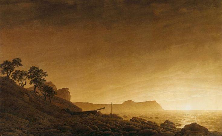Arkona bajo la luna - Caspar David Friedrich