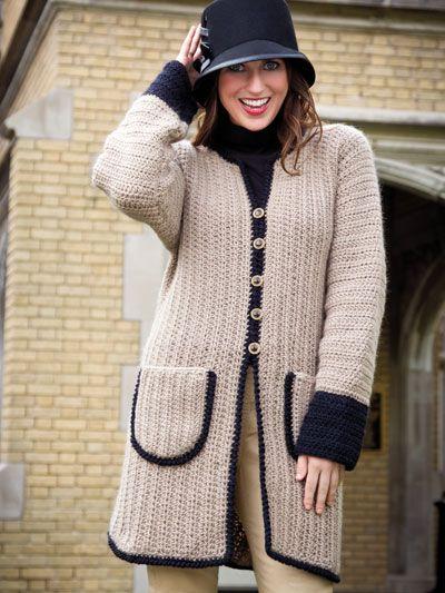 Crochet - Crochet Clothing - Jacket & Coat Patterns - Day-Tripper Walking Coat