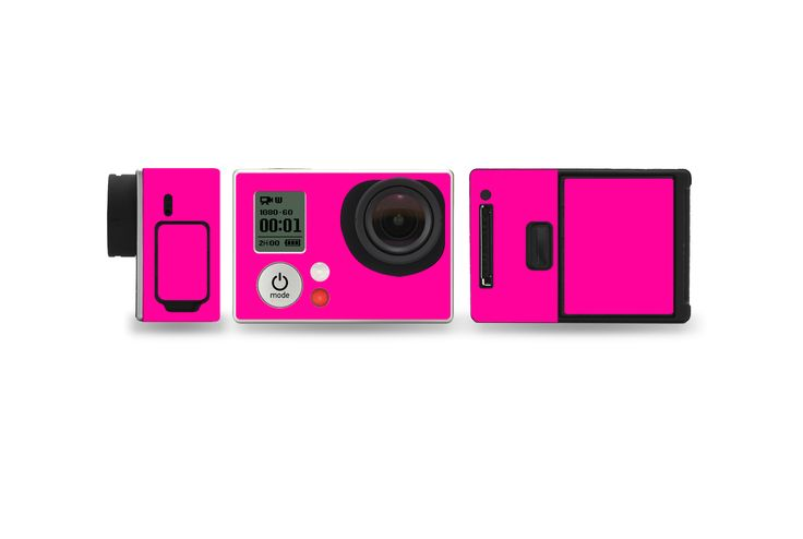 Fluorescent Pink  #GoPro #Hero #3 #GoProHero3 #camera #photos #pictures #skin #skins #wrap #wraps #vinyl #vinyls #decal #decals #stickerboy #sticker #stickers #protector #shield #3M #technology #electronics #neon #florescent #pink #green #yellow #red #glow