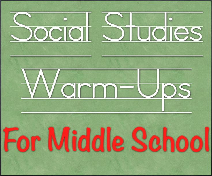Format for setting up Warm Ups for Social Studies in Middle School!