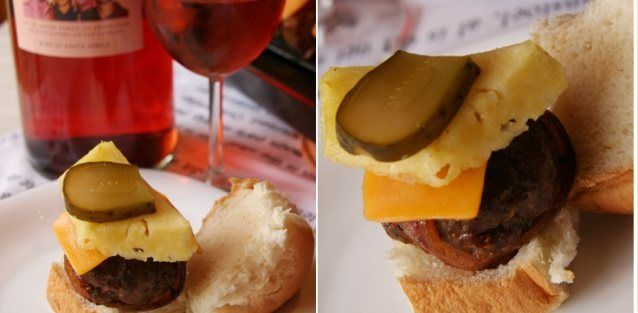 Easy Tasty Hamburgers   Spice up the traditional hamburger with a little Hawaiian twist and a glass of Four Cousins.    http://www.fourcousins.co.za/Recipe/9