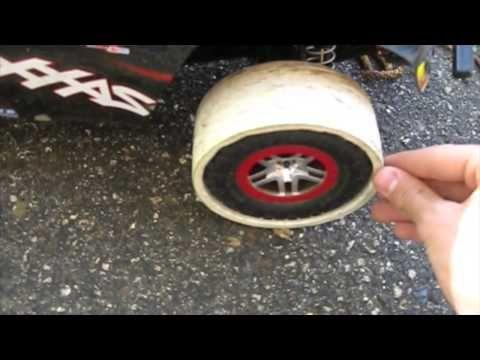 Traxxas Slash 4x4 Pvc drift tires - YouTube