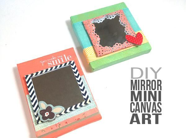 107 best art images on pinterest for the home home for Things to do with mini canvases