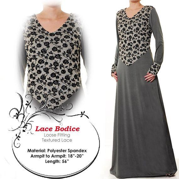 Lace Floral Fashion Islamic Abaya Long Sleeves Maxi by MissMode21, $28.00