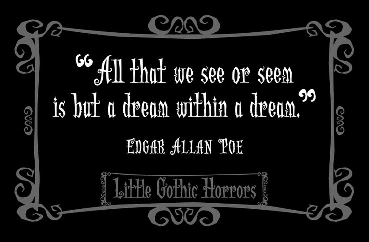 Edgar allan poes writings a sense of fear uncertainty and death