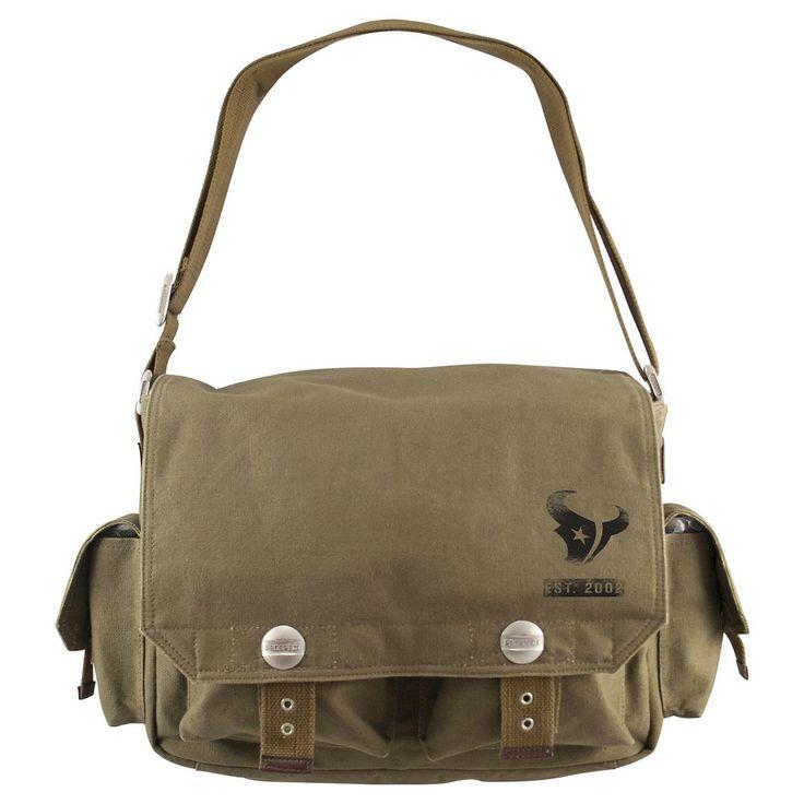 Houston Texans Little Earth Prospect Messenger Bag, Olive Drab