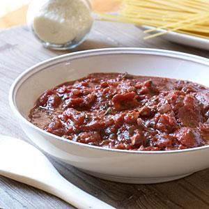 This easy pasta sauce is so tasty and versatile. You can substitute crushed or whole tomatoes for the diced. Crushed will give you a smooth, thick sauce; whole adds a nice chunkiness. Serve this sauce with your favorite pasta.
