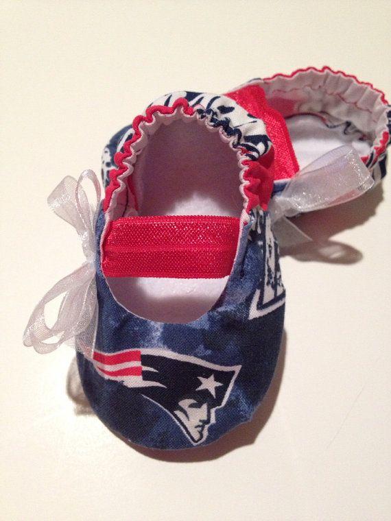 New England Patriots Baby Maryjane Booties