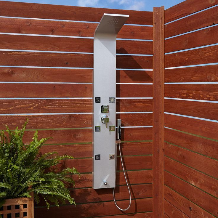 37 Outdoor Shower Ideas You Can Try This Summer In 2020 Shower Panels Outdoor Shower Outdoor Bathrooms