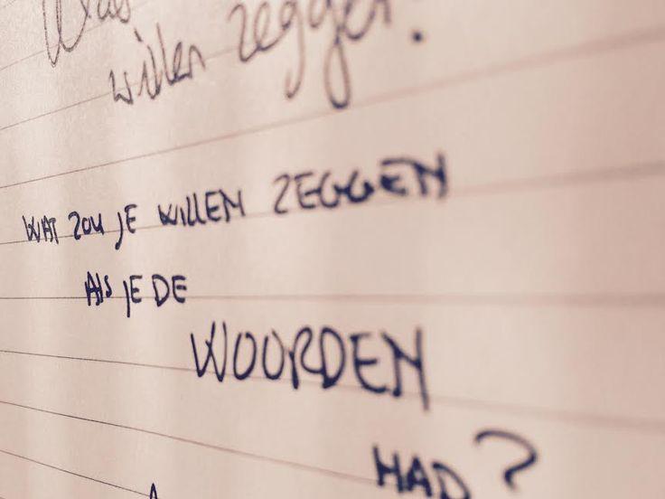 Wat zou jij willen zeggen als je de woorden had?