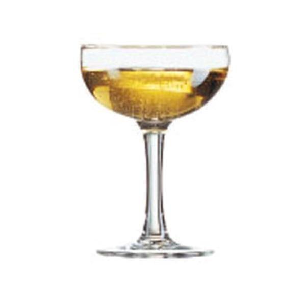 "Coupe Glass, 5-1/4 oz., Arcoroc, Elegance (H 4-3/4""; M 3-1/2"" $169"