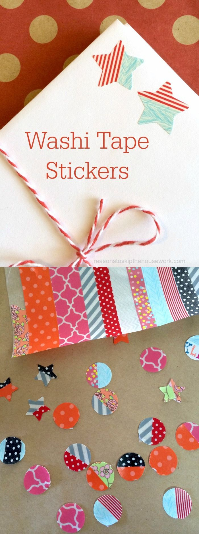 Kids and adults alike love this washi tape tutorial - it's so easy to learn how to make your own stickers! Just pick your favorite patterns of tape.