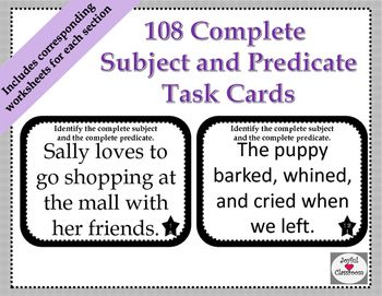 17 Best ideas about Complete Subject And Predicate on Pinterest ...