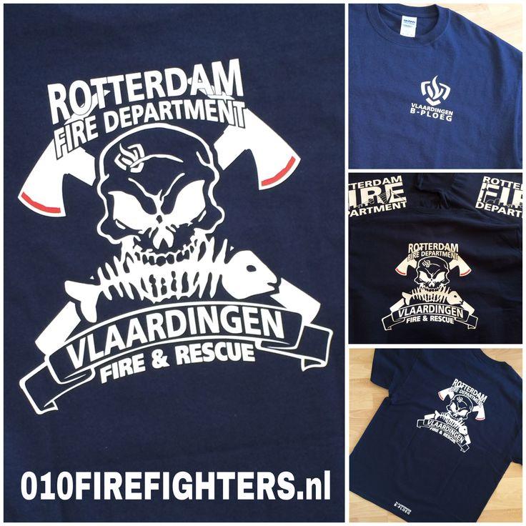 010FireFighters.nl   Firefighters Bodywear -  T-shirt Vlaardingen Fire & Rescue