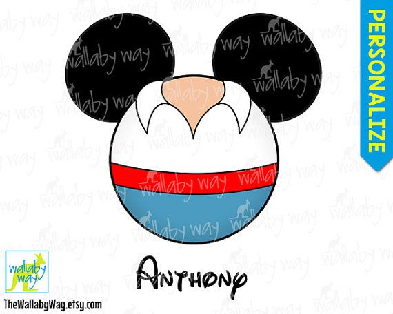 Prince Eric Little Mermaid Mickey Head Printable by TheWallabyWay
