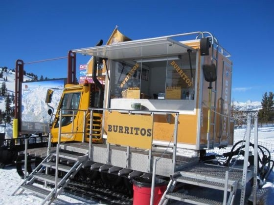 Food truck on a snowcat, who knew?!