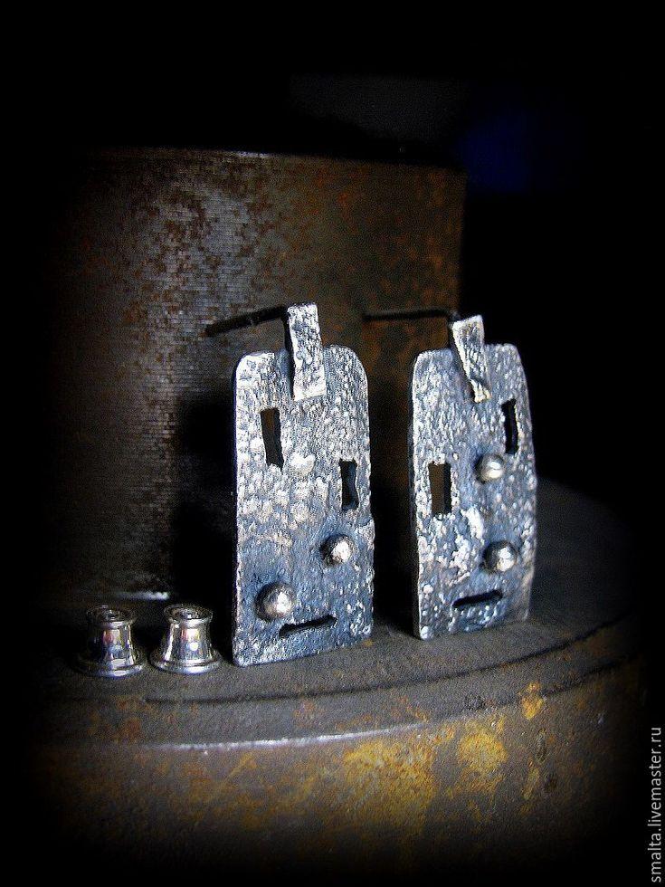 Купить Серебряные серьги Windows - серьги, серьги с камнями, серьги серебряные, серьги серебро