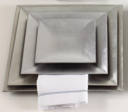 Set of 4 Classic Charger Plates. 10 Inch Square. Silver by Fennco. $21.10 & 70 best Home u0026 Kitchen - Plates images on Pinterest | Countertop ...