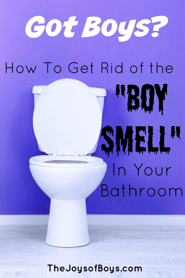 "How to get rid of the ""Boy Smell"" in your bathroom. All Purpose cleaner and natural cleaner recipes that work to keep your bathroom smelling fresh!"
