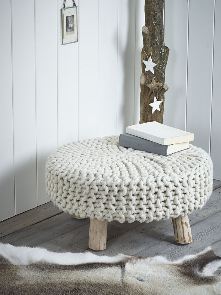 NEW Chunky Knit Footstool