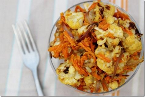 Roasted Cauliflower Salad - very good and tasty.  Good cold too.
