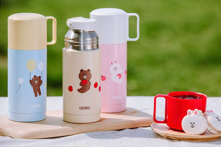 LINE FRIENDS THERMOS Character Stainless Steel Bottle 3 TYPES Official Goods #Thermos