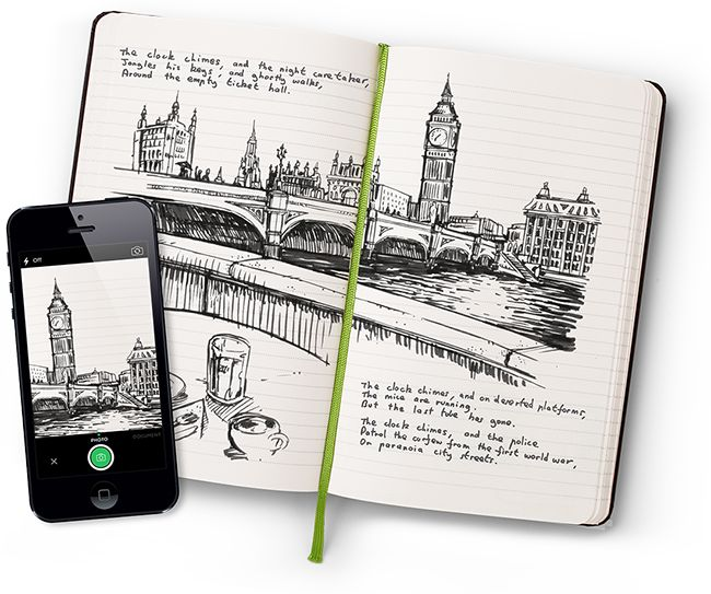 Moleskine's Evernote notebooks make it super easy to digitize drawings and scribbles | cool tech stocking stuffers