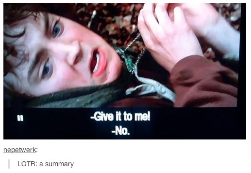 """Boom. Just saved you 11 ½ hours of watching and countless hours of reading. 