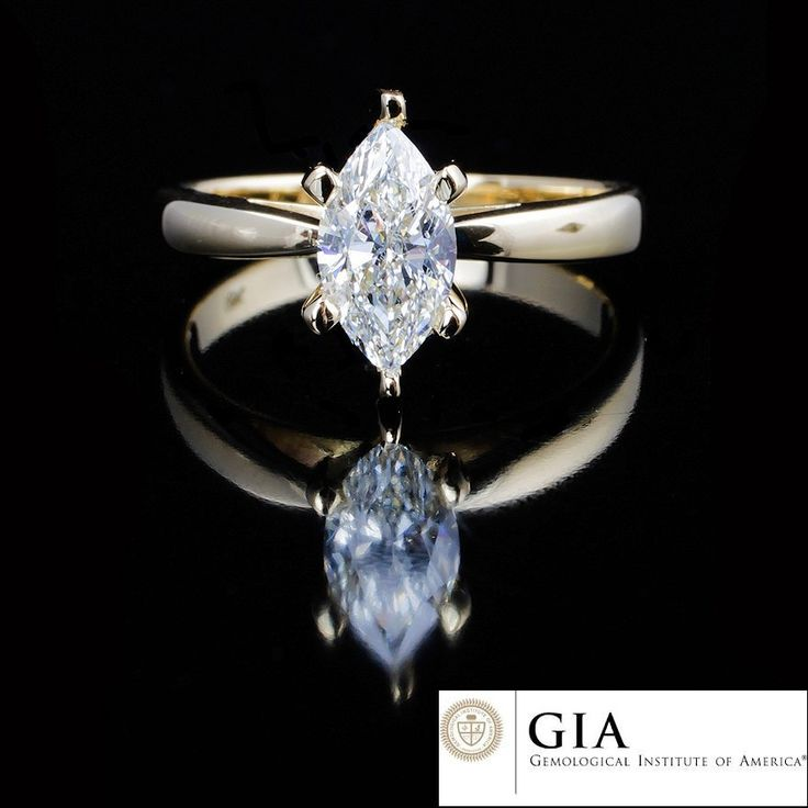 Yellow Gold Marquee Diamond Engagement Ring Simple Stunning