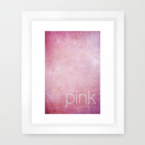 PINK Framed Art Print by  VIAINA   Society6