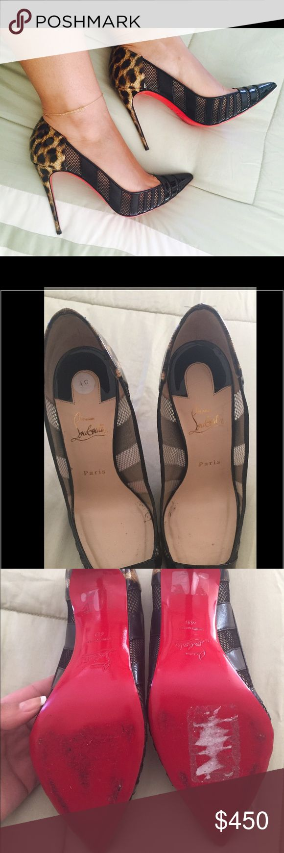 """Christian Louboutin Bandy Pumps size 40 Authentic! Got these beauties from a fellow posher, who bought them from a high end consignment shop. Unfortunately, they are too big for me so i need to let them go to someone who will actually wear them 😫. Self-covered heel, 4"""" (100mm) Size EU 40 which can fit a 9 or 9.5 US. Priced for quick sale & free authentication. Small nick on the bottom of the right heel. Minor wear on the insole and on the bottom of soles of the heels. Christian Louboutin…"""