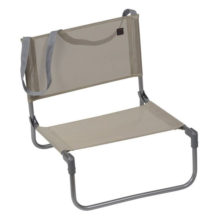 Outdoor Lafuma Batyline Fabric Low Seat Aluminum Folding Beach Chair - Set of 6 - LFM1210-1685