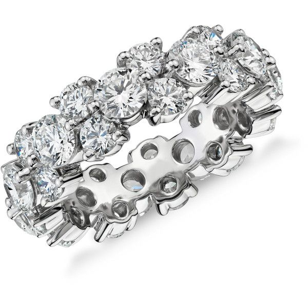 Blue Nile Garland Diamond Eternity Ring (£10,620) ❤ liked on Polyvore featuring jewelry, rings, diamond eternity rings, blue nile jewelry, diamond rings, round ring and blue nile rings