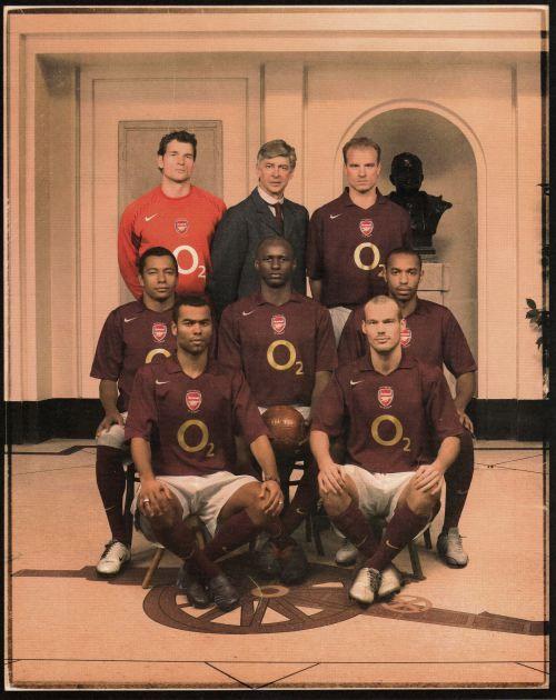 Arsenal Away Kit Promo Shot 2005.
