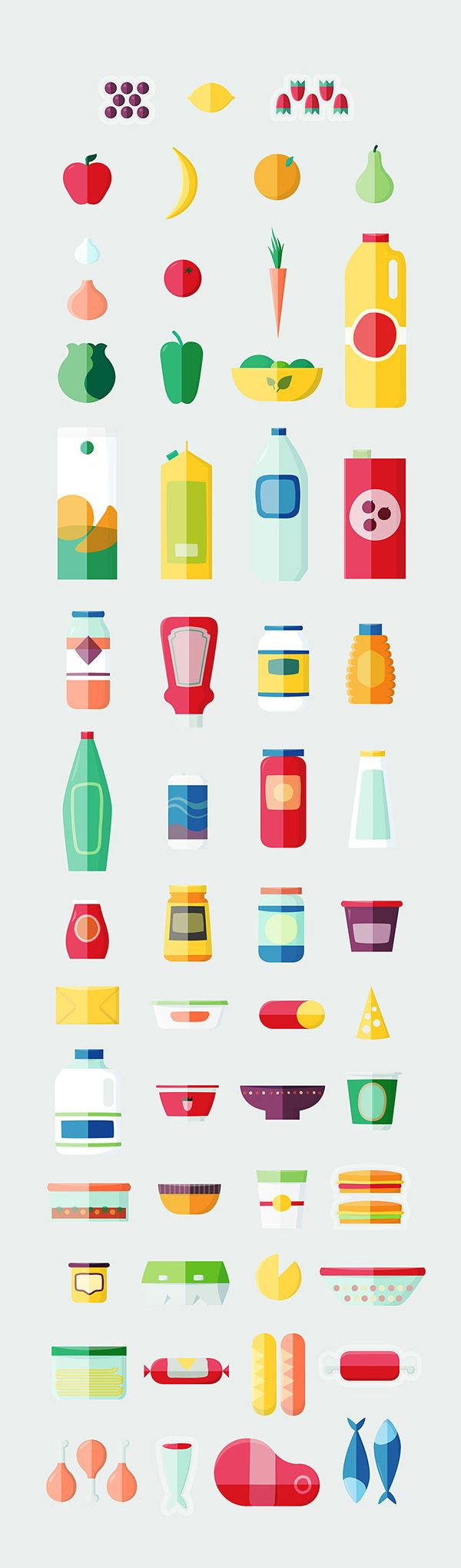 How to stock your fridge on Behance