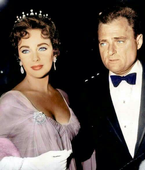 Elizabeth Taylor and her then husband Mike Todd