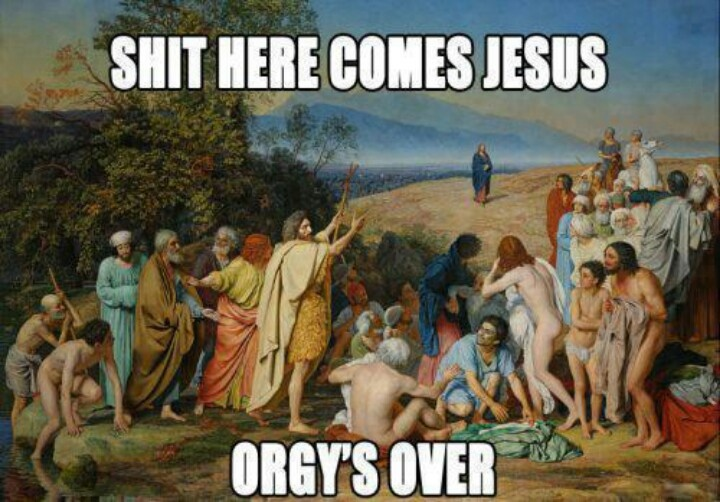 Orgy's over...