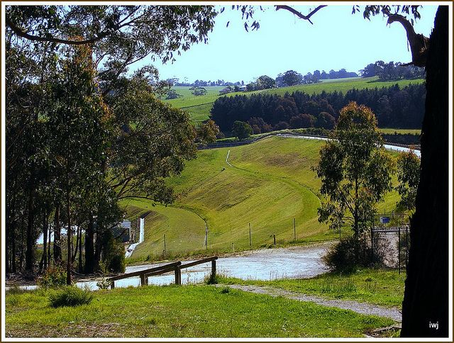 Tarago Reservoir, dam wall, Neerim South, West Gippsland, Victoria