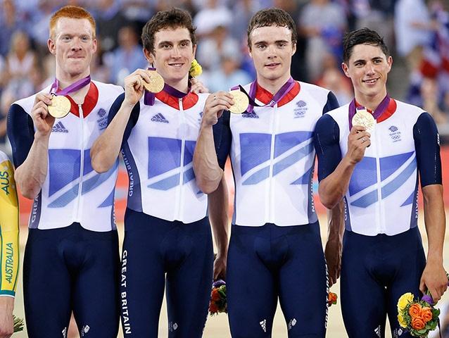 Team GB medals: Edward Clancy, Geraint Thomas, Steven Burke and Peter Kennaugh
