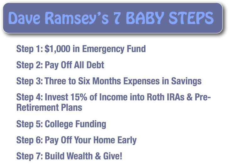 daveramsey. Baby Step 1: An emergency fund is for those unexpected events in life that you can't plan for: the loss of a job, an unexpected pregnancy, ...