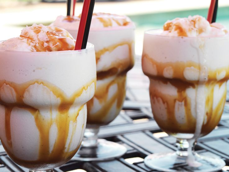 Salted Bourbon Caramel Milkshake Recipe : Guy Fieri : Food Network - FoodNetwork.com