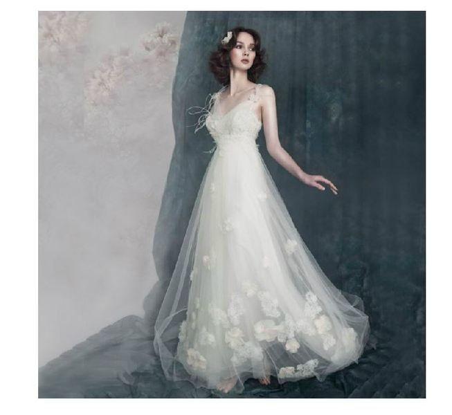 Brautkleider - Fee und flower Elf style - Hochzeitskleid - ein Designerstück von BrownCorney bei DaWanda