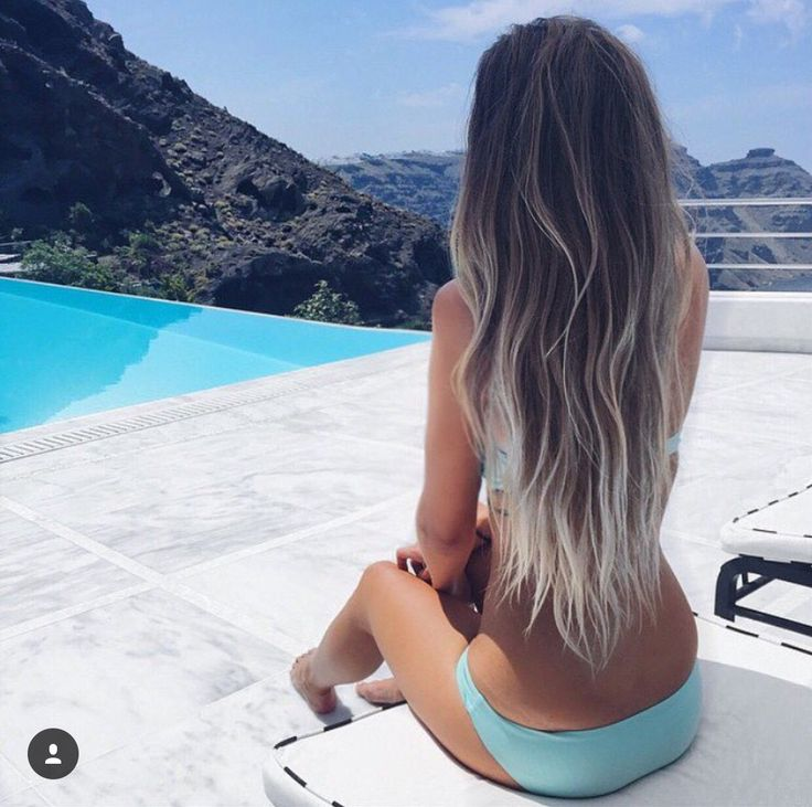 Beach/pool + hair extension  summer long hair goals! Visit us at https://www.gmjbeauty.com to buy tape-in(skin weft) or clip in hair extensions, and use HELLOGMJ15. For licensed #hairstylist, you get more pro  #discount✂️! Stop looking for the perfect #hairextensions❤️