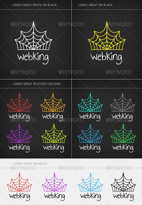 Web King   #GraphicRiver         Web King Logo     This logo is suitable for many types of scenarios/companies/branding be it web design, web development, media companies and any other online web related area, infact, feel free to use it on any type of project!   The main composition is supplied in the raw Illustrator .Ai file format which is also supported by an eps 10. The file is completely editable and extremely easy to edit! Simple colour changes can be made with great ease, feel free…