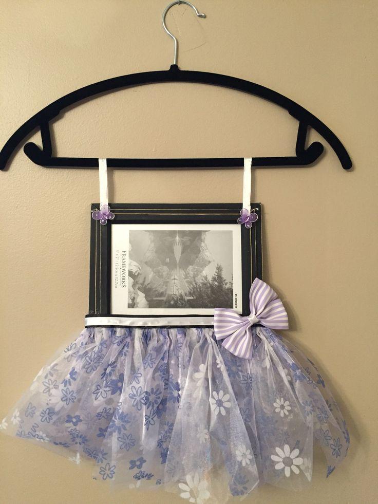 Cute tutu picture frame