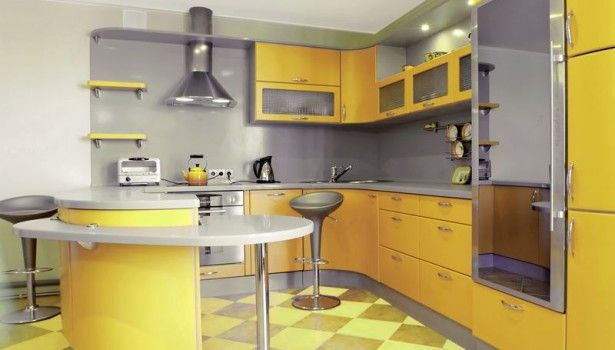 Kitchen Scurved Peninsula Seating Kitchen Cabinets Modern Yellow A Glass Doors Marvelous Black And Yellow Kitchen Design Color Schemes Will Make You Comfy