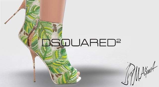 MA$ims4: Dsquared Embroidered Boots