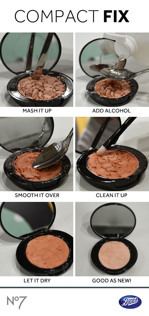 Broken compact? Don't trash it just yet! We've got the ultimate beauty hack to fix up your powder so it's good-as-new.