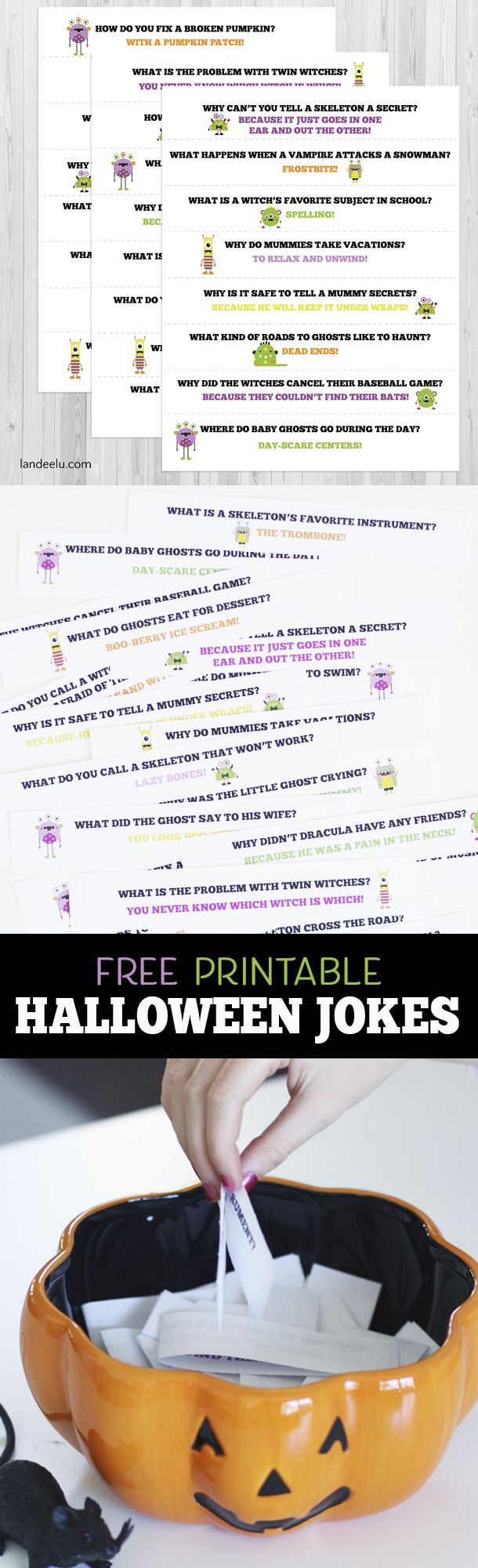 These punny Halloween jokes will be a hit all through October! Stick them in lun...