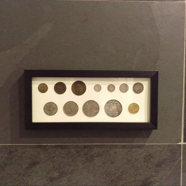 Display Frame For Uk 10p Coins Black Wall Hanging Case For Etsy Frame Display Hanging Frames Display Frames